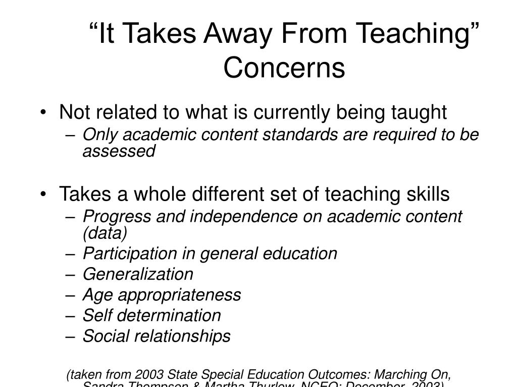 """It Takes Away From Teaching"" Concerns"