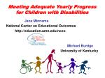 meeting adequate yearly progress for children with disabilities