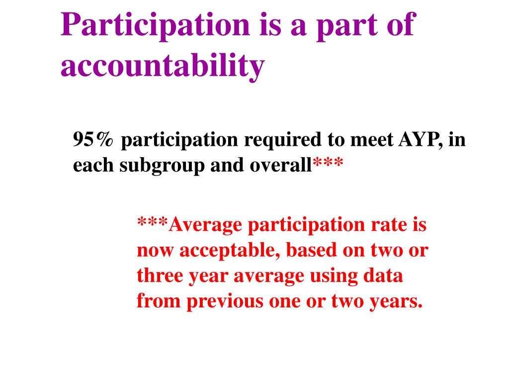 Participation is a part of accountability