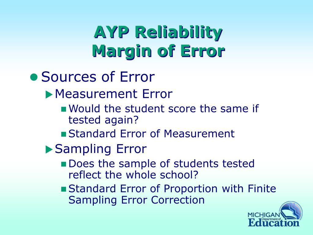 AYP Reliability