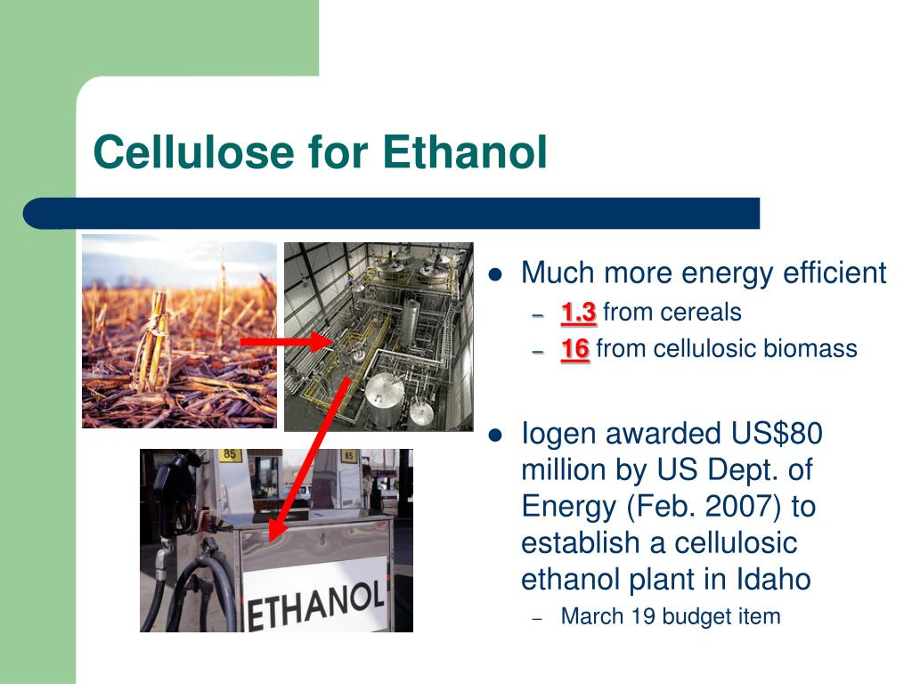 Cellulose for Ethanol
