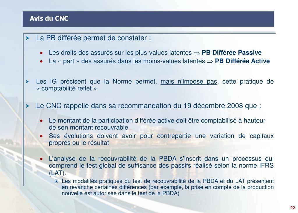 Avis du CNC
