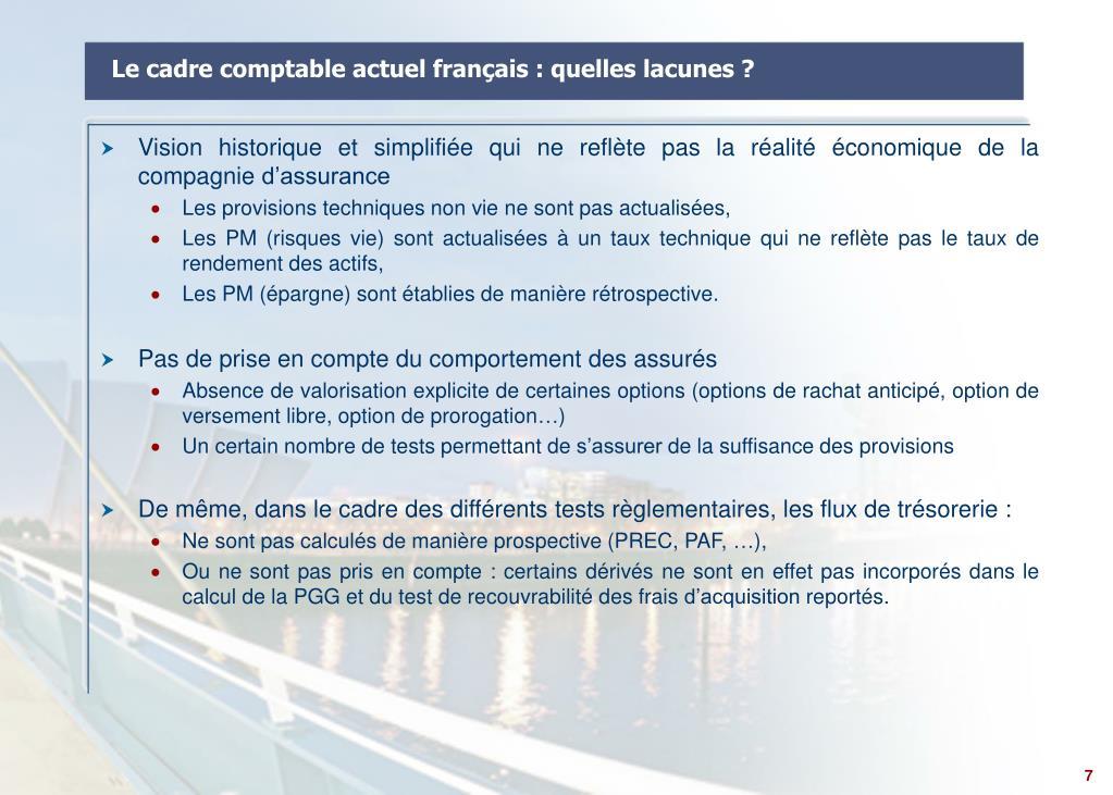 Le cadre comptable actuel français : quelles lacunes ?