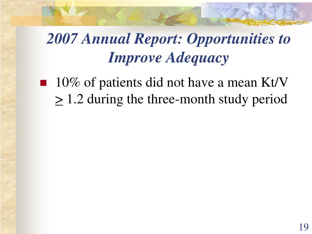 2007 Annual Report: Opportunities to Improve Adequacy
