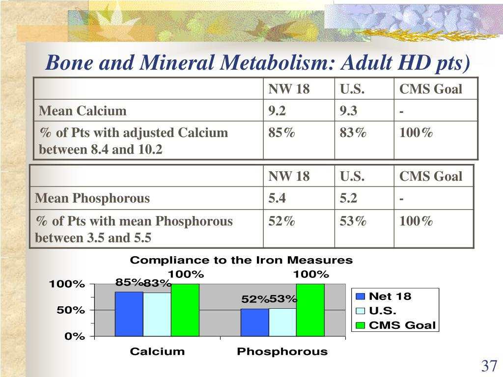 Bone and Mineral Metabolism: Adult HD pts)