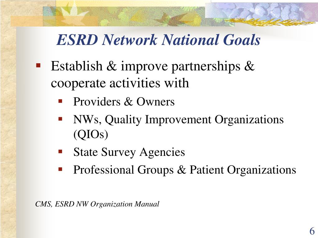 ESRD Network National Goals