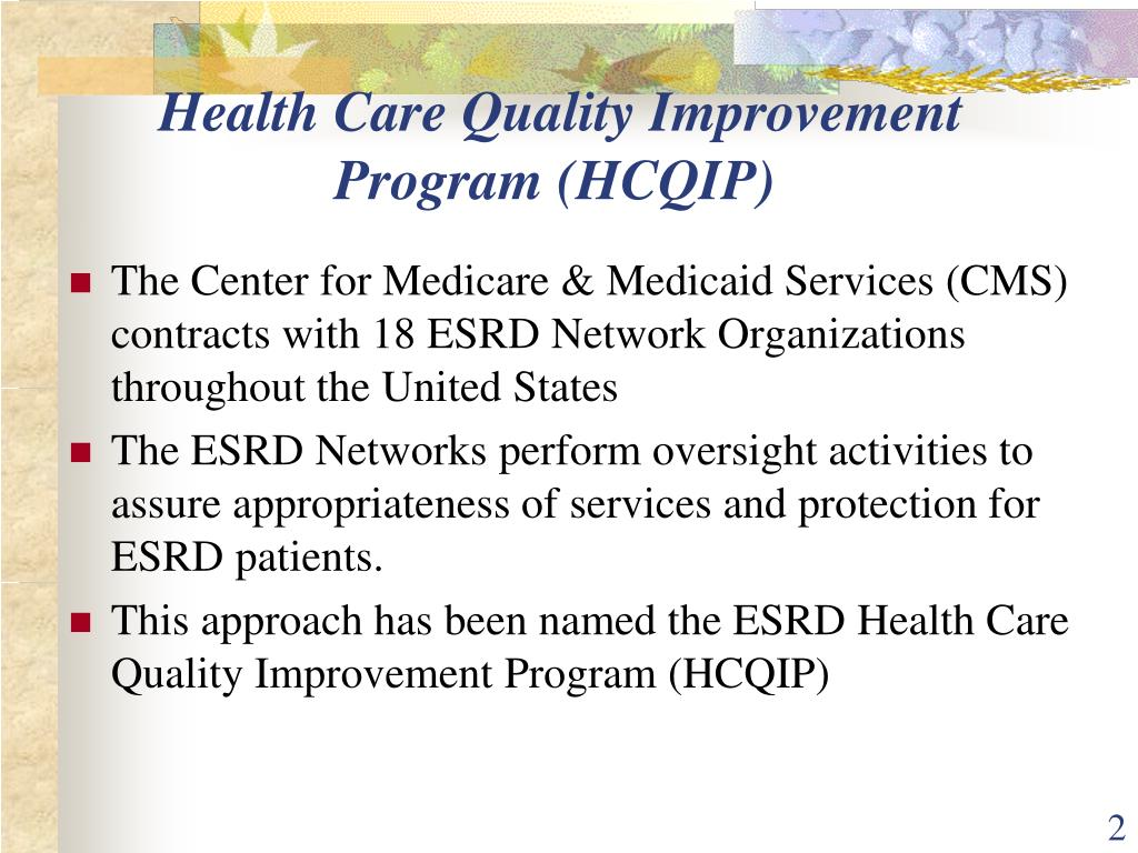Health Care Quality Improvement Program (HCQIP)