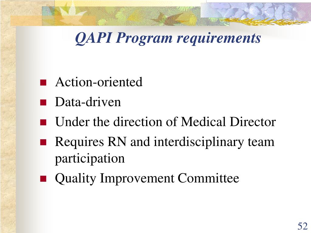 QAPI Program requirements