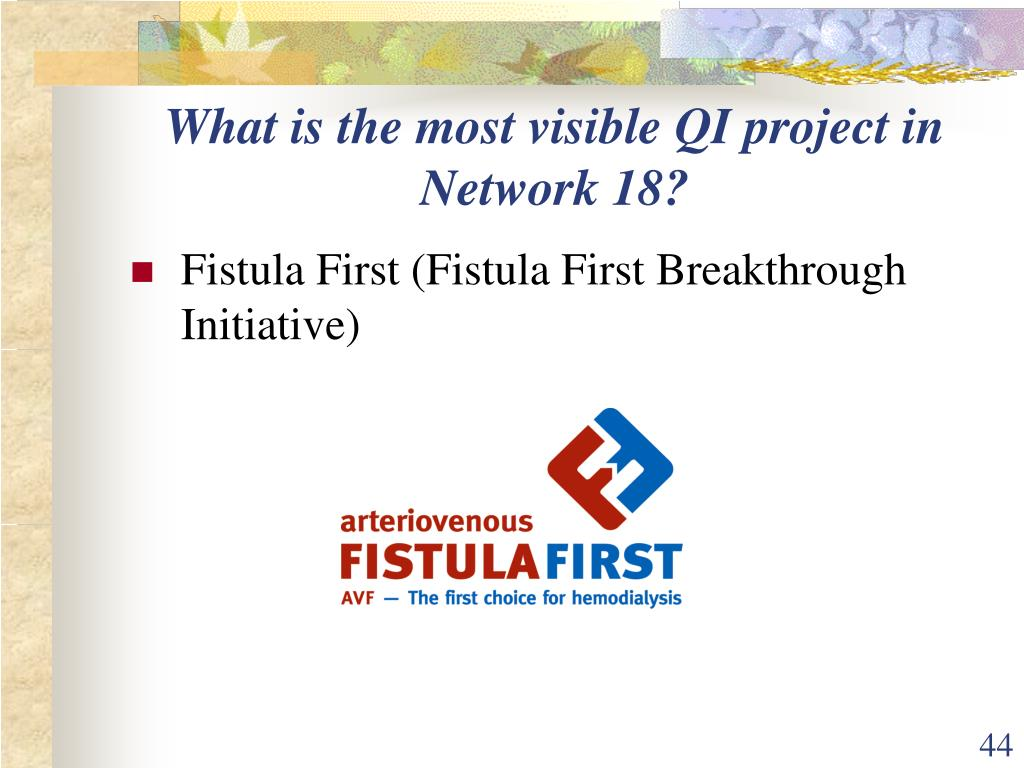 What is the most visible QI project in Network 18?