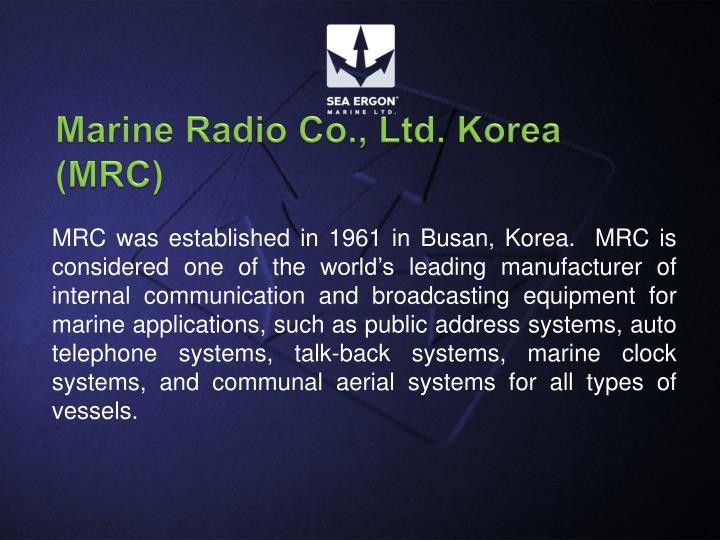 Marine Radio Co., Ltd. Korea (MRC)