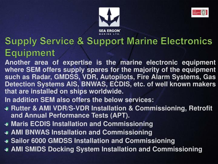 Supply Service & Support Marine Electronics Equipment