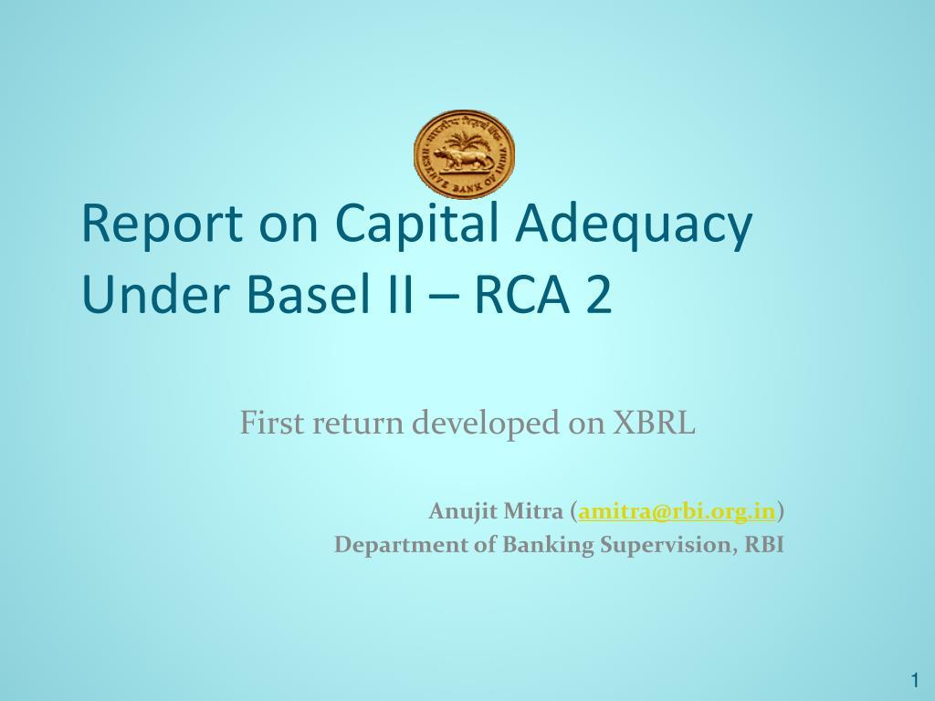 Report on Capital Adequacy