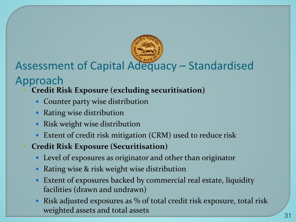 Assessment of Capital Adequacy – Standardised Approach