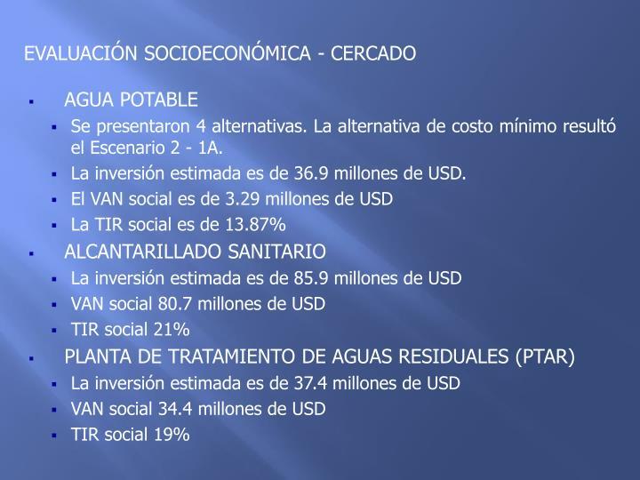 EVALUACIÓN SOCIOECONÓMICA - CERCADO