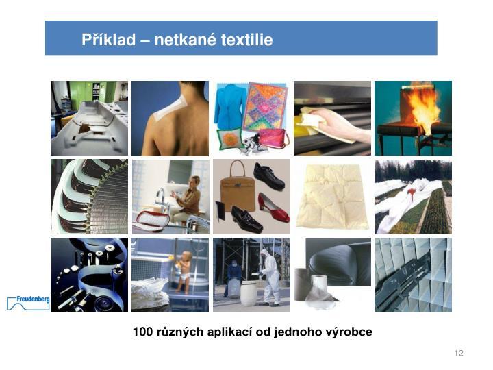 Příklad – netkané textilie