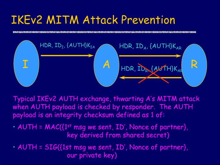 IKEv2 MITM Attack Prevention