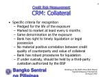 credit risk measurement crm collateral