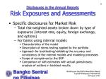 disclosures in the annual reports risk exposures and assessments50