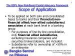 the bsp s new risk based capital adequacy framework scope of application