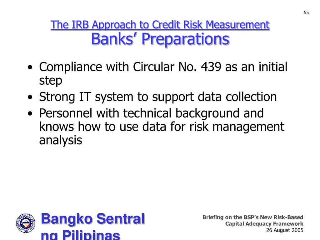 The IRB Approach to Credit Risk Measurement