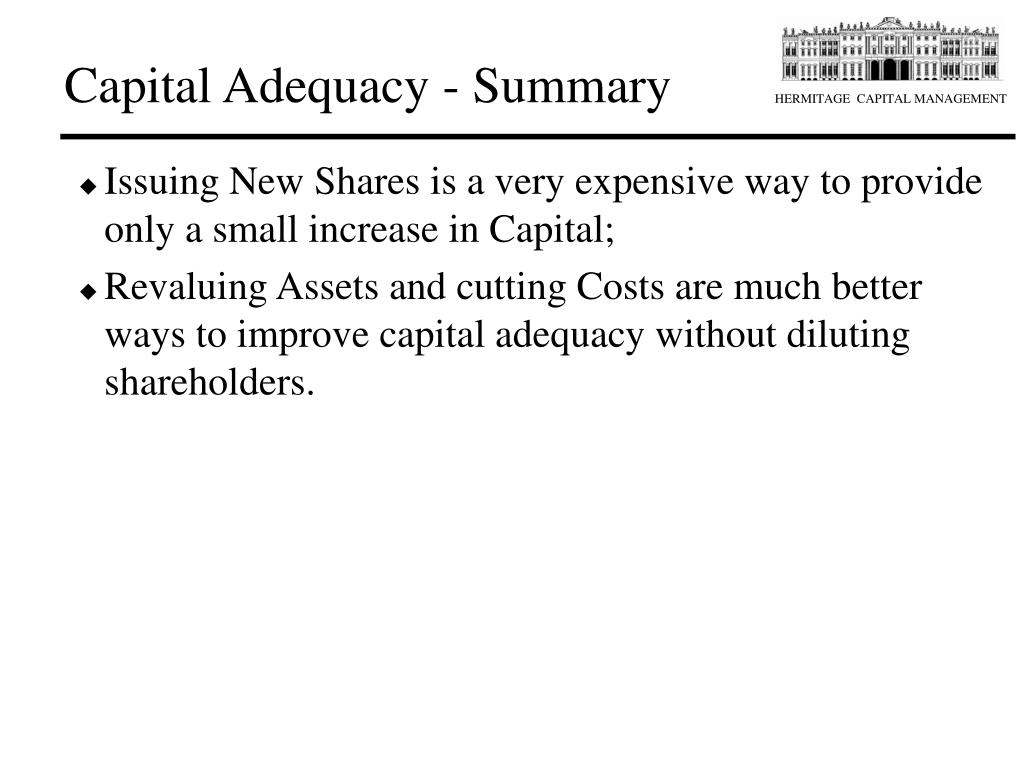 Capital Adequacy - Summary
