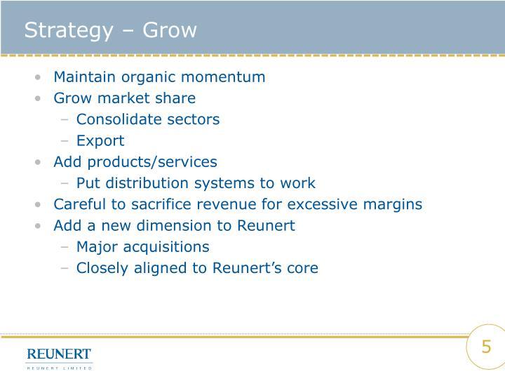 Strategy – Grow