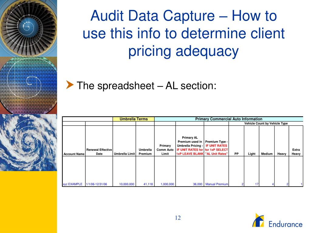 Audit Data Capture – How to use this info to determine client pricing adequacy