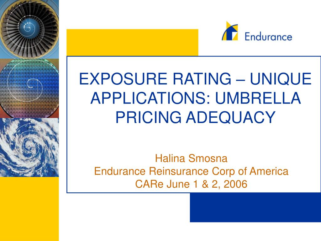 EXPOSURE RATING – UNIQUE APPLICATIONS: UMBRELLA PRICING ADEQUACY