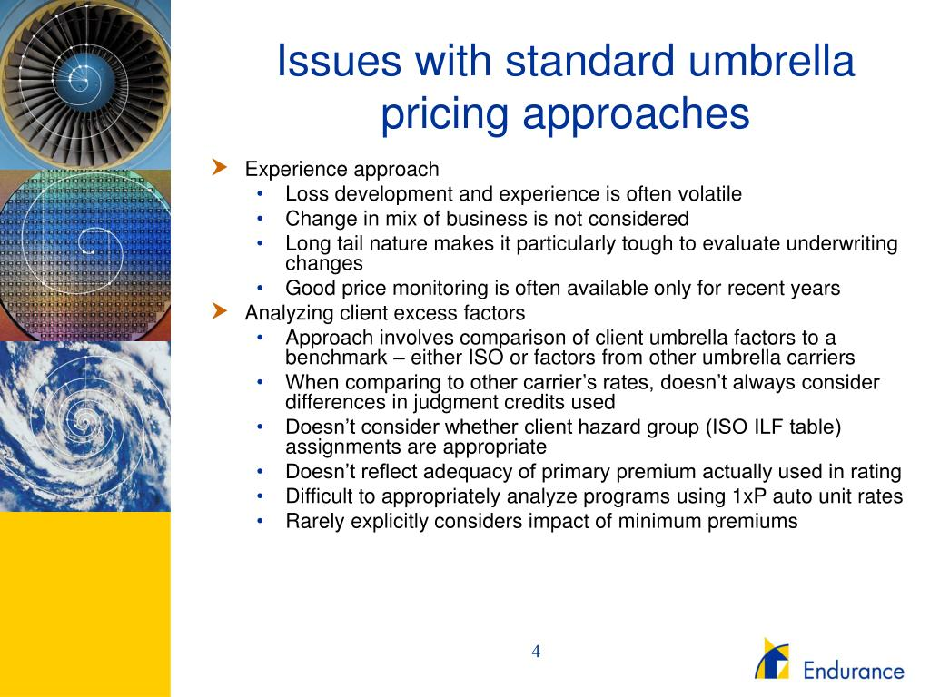 Issues with standard umbrella pricing approaches
