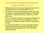 environmental l y compatible primary bioenergy potential in the eu source eea34