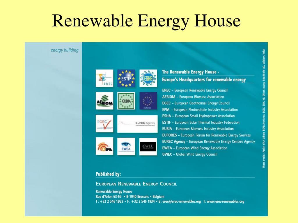 Renewable Energy House