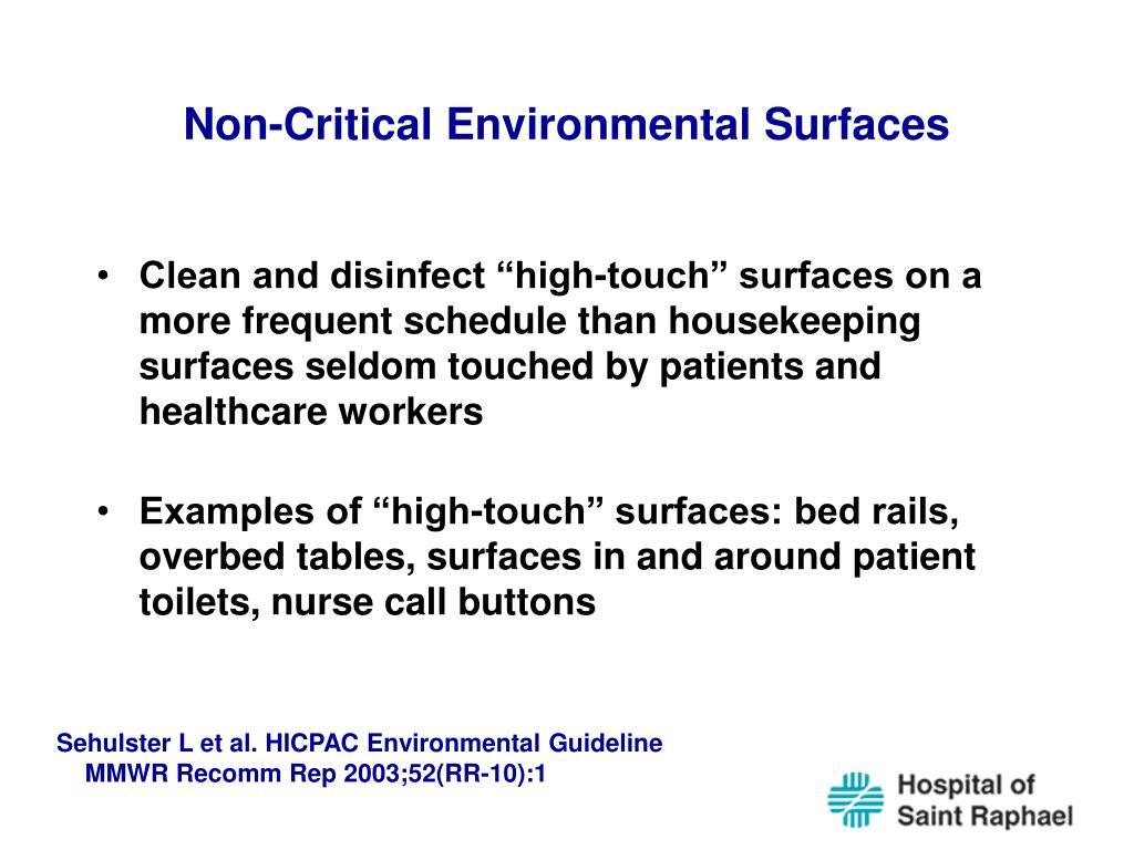 Non-Critical Environmental Surfaces