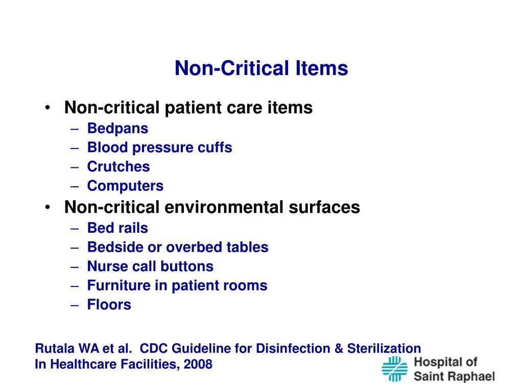 Non-Critical Items
