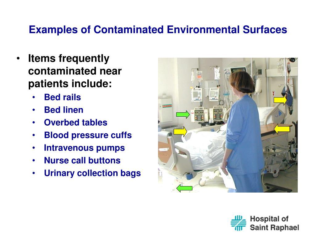 Examples of Contaminated Environmental Surfaces