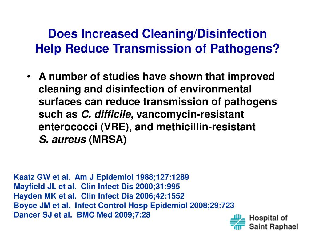 Does Increased Cleaning/Disinfection