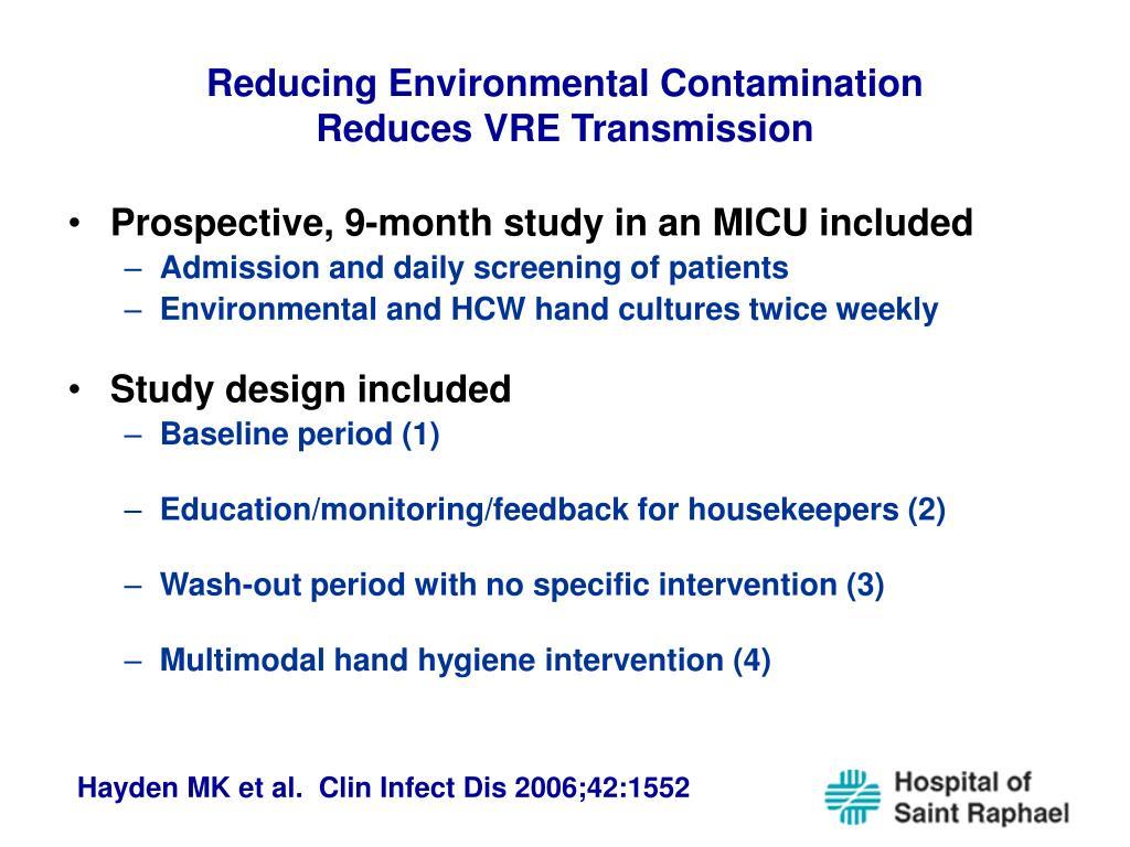 Reducing Environmental Contamination