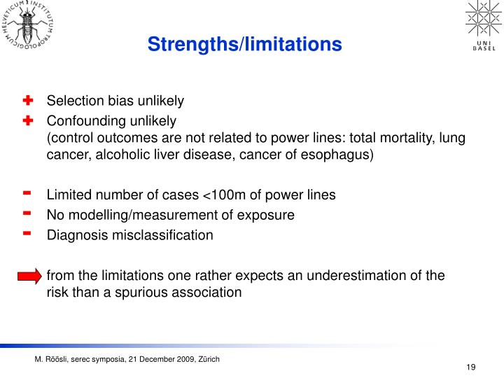Strengths/limitations