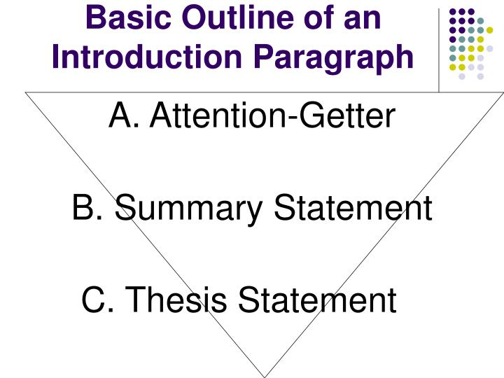 basic outline of a thesis Thesis development thesis may stretch to two sentences this sentence provides more specific information and can serve as a basic outline for your paper.