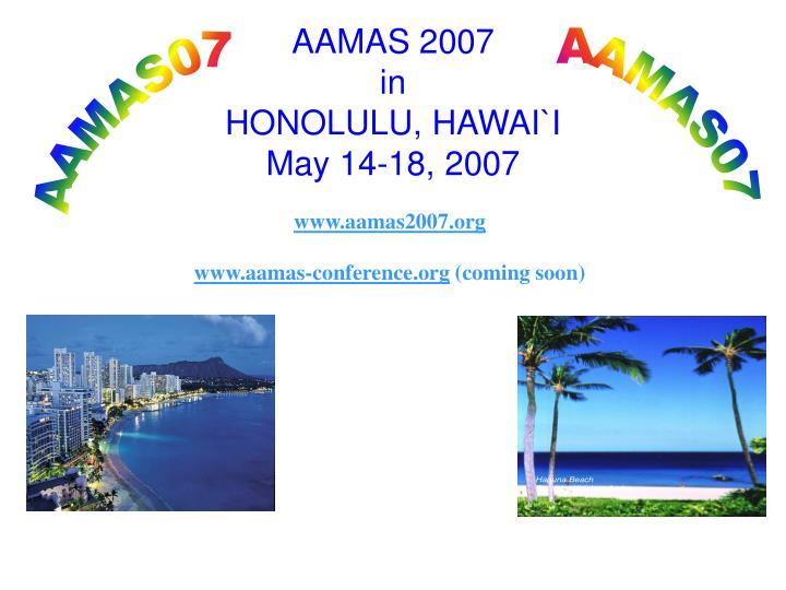 AAMAS 2007