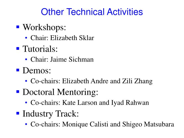 Other Technical Activities