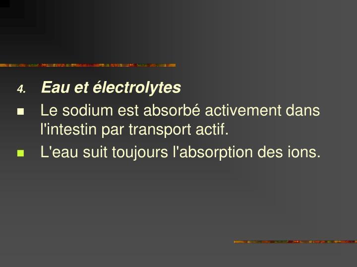 Eau et électrolytes