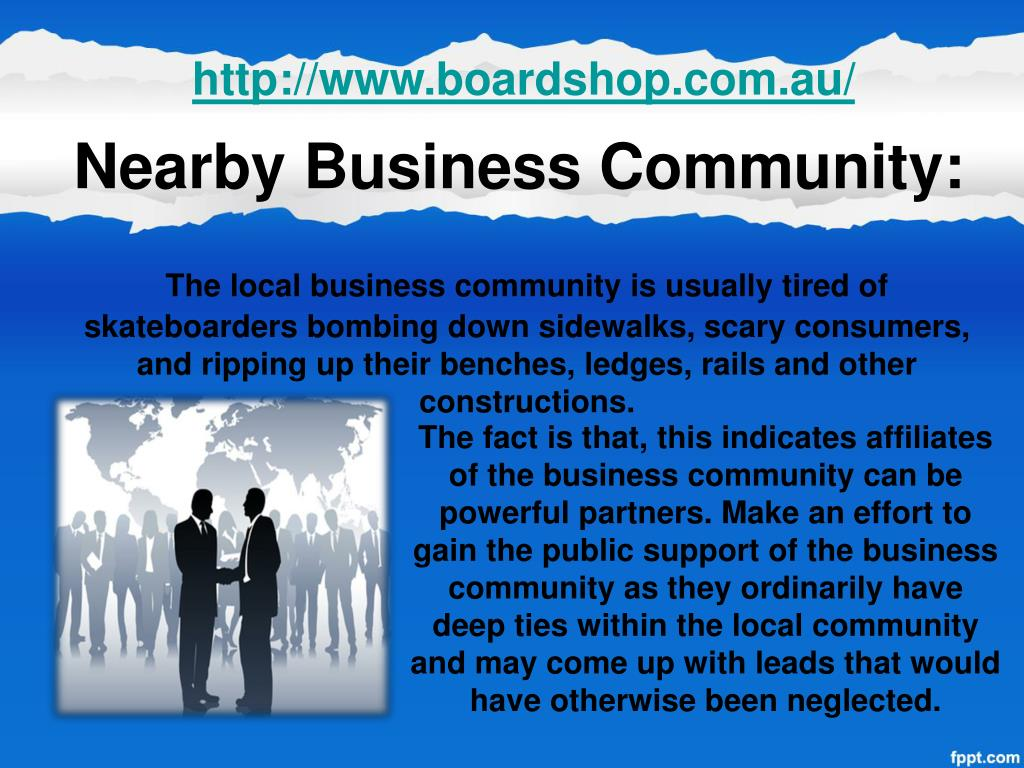 Nearby Business Community: