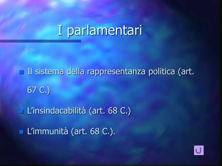 I parlamentari