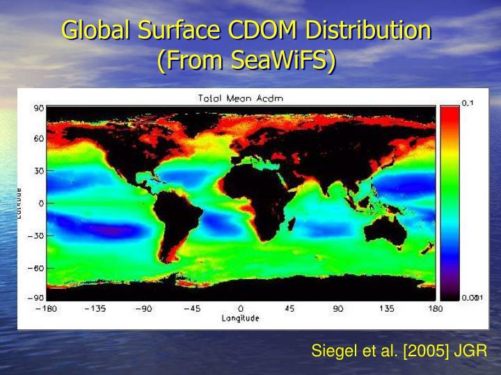Global Surface CDOM Distribution