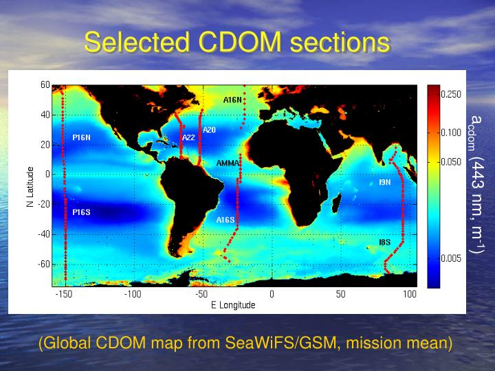 Selected CDOM sections