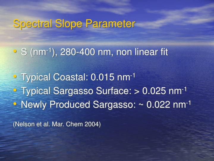 Spectral Slope Parameter