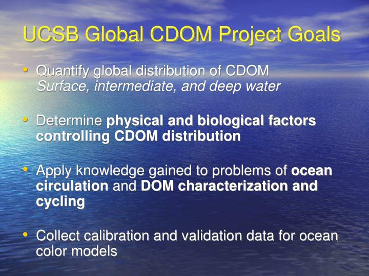 UCSB Global CDOM Project Goals