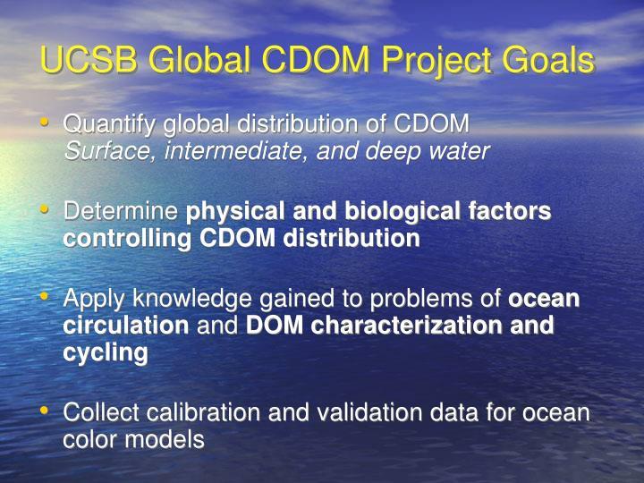 UCSB Global CDOM Project Goals