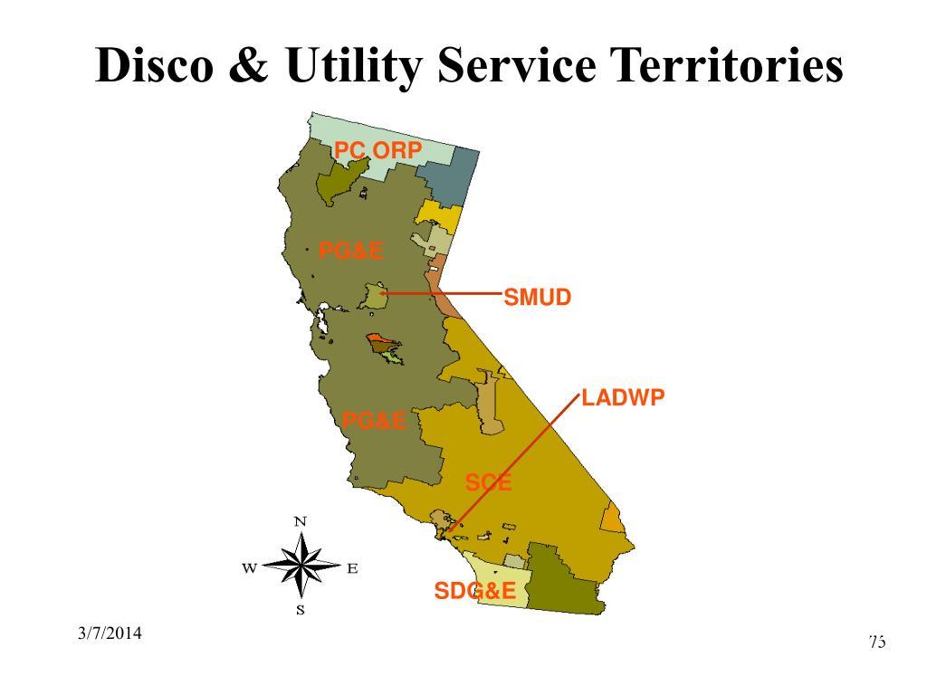 Disco & Utility Service Territories