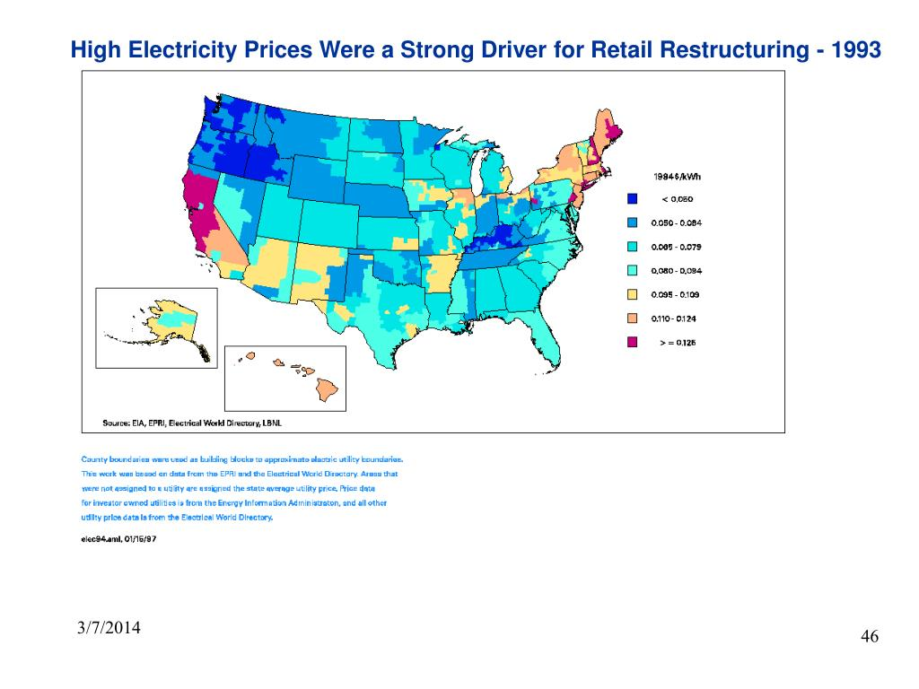 High Electricity Prices Were a Strong Driver for Retail Restructuring - 1993